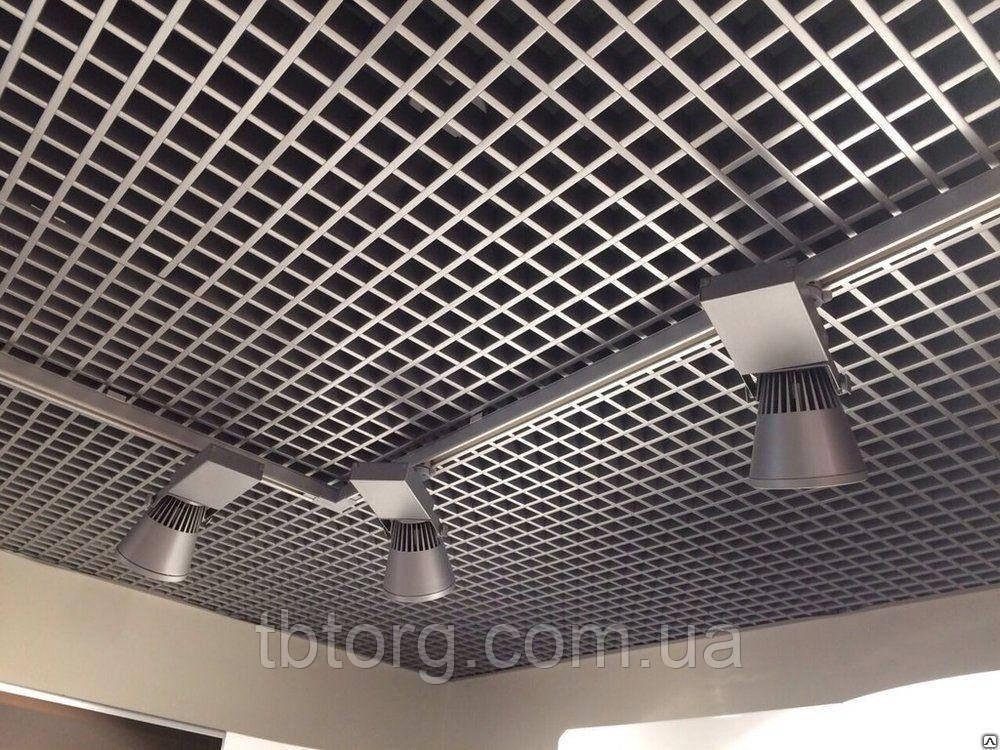 Потолки подвесные  Грильято 100х100