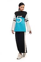 Трехцветная спортивная кофта SVTR 42-46 Бирюзовый 495, КОД: 1354339