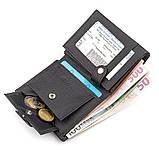Чоловічий гаманець ST Leather 18496 (ST132) натуральна шкіра чорний, фото 6