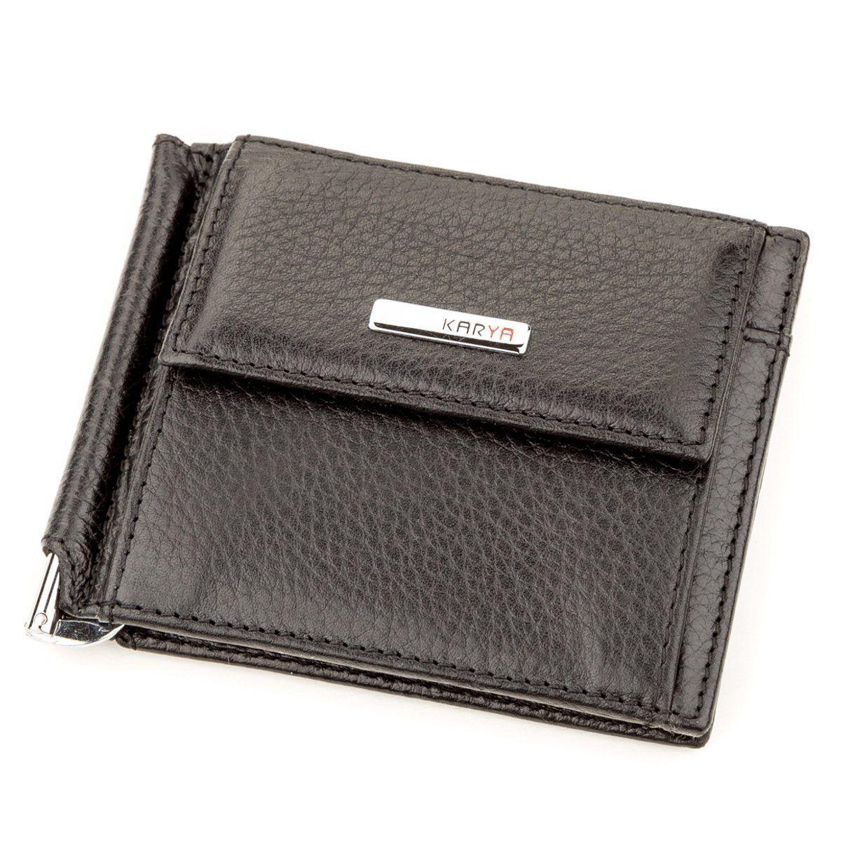 Зажим для денег KARYA 17232 кожаный Черный