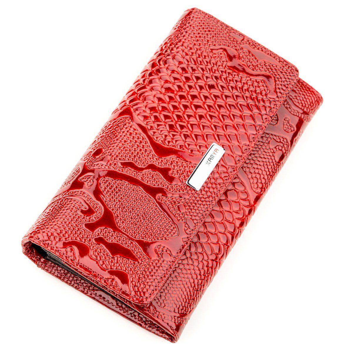 Кошелек женский KARYA 17241 кожаный Красный