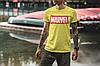 """Подарунковий набір чоловічий. Футболка жовта з принтом """"Marvel"""", шкарпетки з принтом """"Marvel"""", фото 3"""
