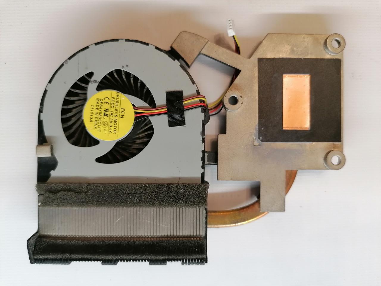 Б/У радиатор ( система охлаждения ) + кулер для ноутбука Lenovo G500 G505 G510 (AT0Y0004FF0)