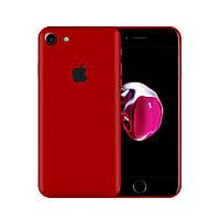 Защитная виниловая наклейка для iPhone 8 красный матовый. Чехол для задней поверхности телефона