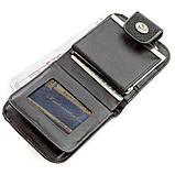 Горизонтальний гаманець STINGRAY LEATHER 18561 з натуральної шкіри морського скату Чорний, Чорний, фото 4