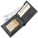 Бумажник мужской STINGRAY LEATHER 18562 из натуральной кожи морского ската Черный, фото 3