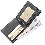 Бумажник мужской STINGRAY LEATHER 18562 из натуральной кожи морского ската Черный, фото 5
