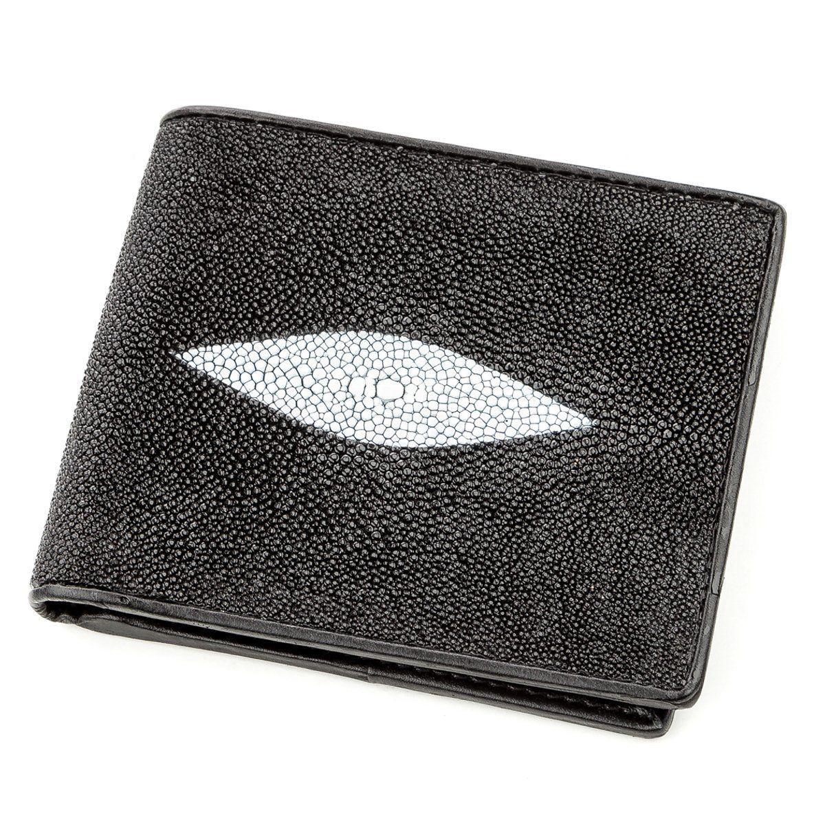 Бумажник мужской STINGRAY LEATHER 18563 из натуральной кожи морского ската Черный