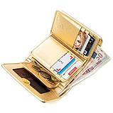 Вертикальний жіночий гаманець STINGRAY LEATHER 18639 з натуральної шкіри морського скату Золотистий, фото 5