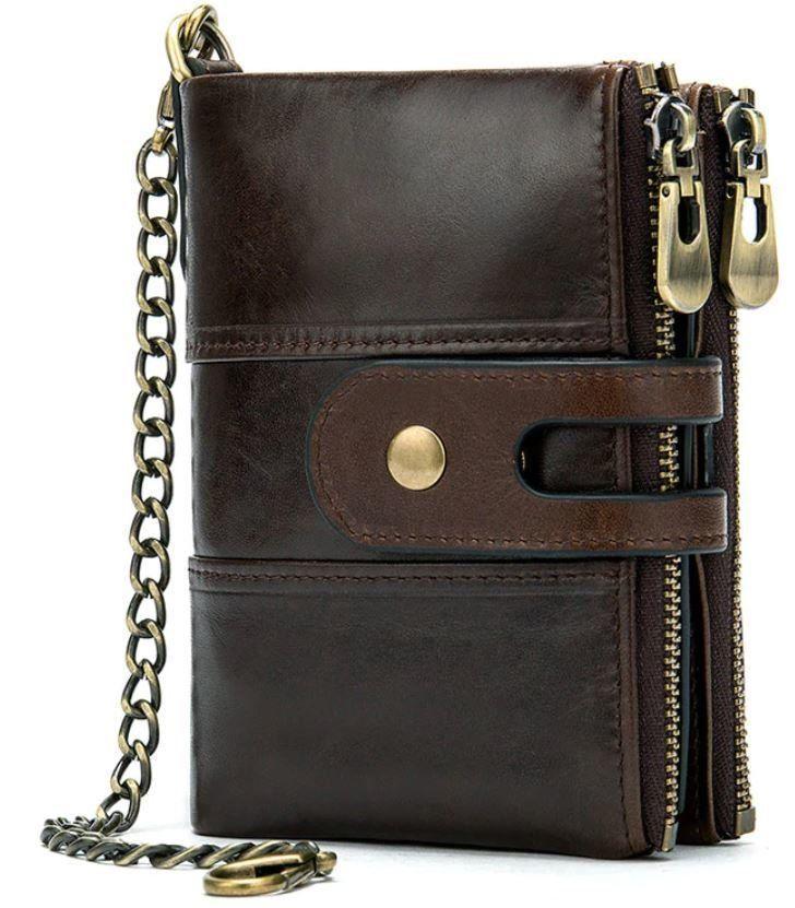 Кошелек универсальный Vintage 14682 Темно-коричневый