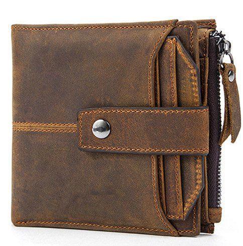 Гаманець з потертостями Vintage 14689 коричневий