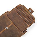 Гаманець з потертостями Vintage 14689 коричневий, фото 3