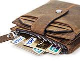 Гаманець з потертостями Vintage 14689 коричневий, фото 4
