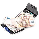 Зажим для денег из итальянской кожи GRANDE PELLE 11149 Черный, фото 3