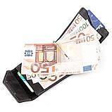 Зажим для денег из итальянской кожи GRANDE PELLE 11149 Черный, фото 4