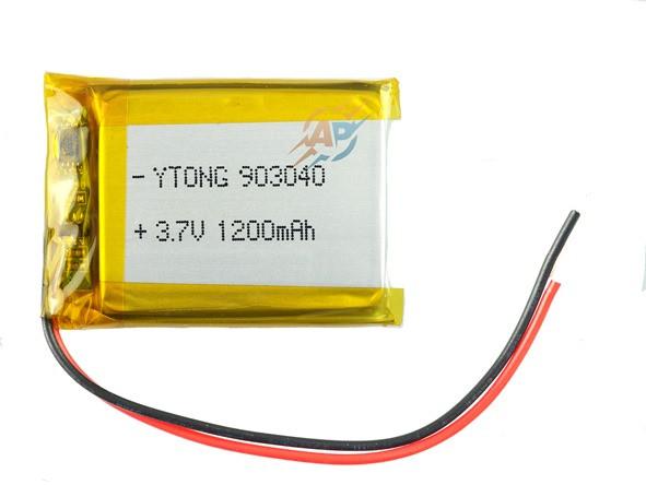 Аккумулятор 1200mAh 3.7v 903040 для динамиков, колонок, MP3 GPS