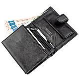 Чудовий гаманець для чоловіків ST Leather 18833 чорний, фото 3