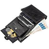 Чудовий гаманець для чоловіків ST Leather 18833 чорний, фото 6