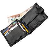 Превосходный мужской бумажник ST Leather 18834 Черный, фото 3