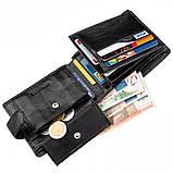 Превосходный мужской бумажник ST Leather 18834 Черный, фото 5