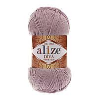 Пряжа для ручного вязания Alize DİVA STRETCH -(Ализе дива стрейч)  505 лиловый