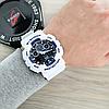 Мужские спортивные наручные часы Casio G-Shock GA-100 White-Blue-Black, фото 6