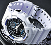 Мужские спортивные наручные часы Casio G-Shock GA-100 White-Blue-Black, фото 4
