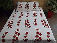 Комплект постельного белья бязь Голд Красные маки