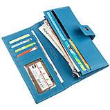 Дивовижний жіночий гаманець Boston 18845 Блакитний, фото 3