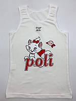 """Маєчки на широких бретелях для дівчинки """"Poli cat"""", фото 1"""