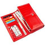 Яркий кошелек для женщин с визитницей ST Leather 18882 Красный, фото 3