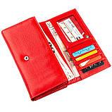 Яркий кошелек для женщин с визитницей ST Leather 18882 Красный, фото 4
