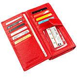 Яркий кошелек для женщин с визитницей ST Leather 18882 Красный, фото 6