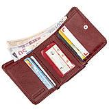 Компактний жіночий гаманець на кнопці ST Leather 18885 Темно-червоний, фото 3