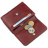 Компактний жіночий гаманець на кнопці ST Leather 18885 Темно-червоний, фото 5