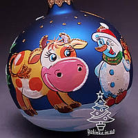 Стеклянный шар на елку Символ года 70461 диаметр 70 мм