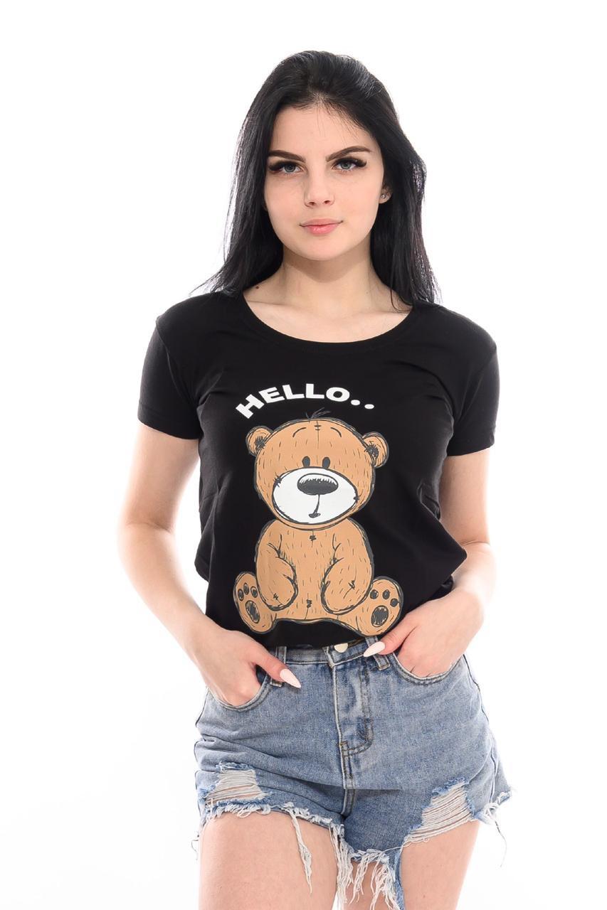 Женская футболка с мишкой 42-44 (в расцветках)