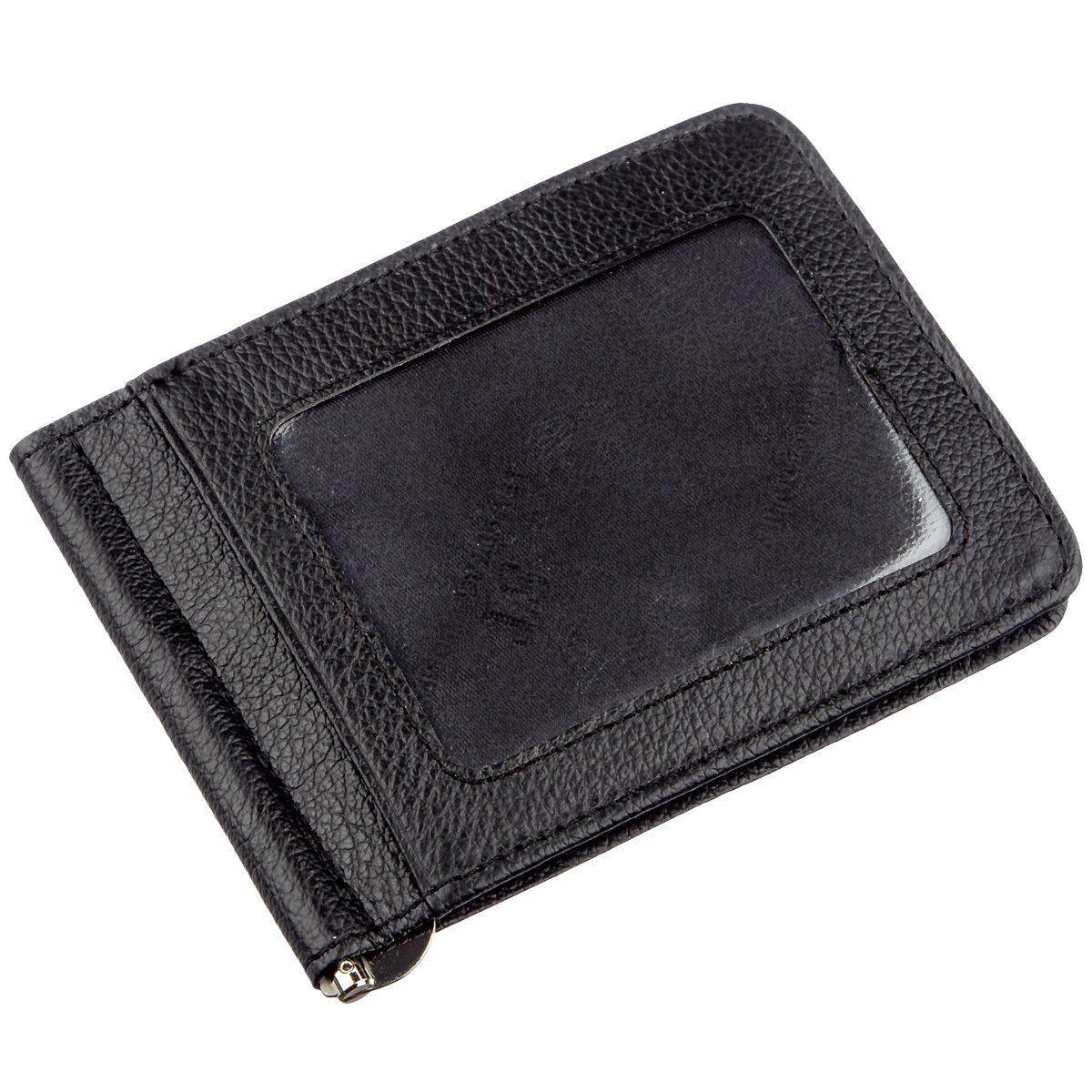Кожаный мужской зажим на магните ST Leather 18937 Черный