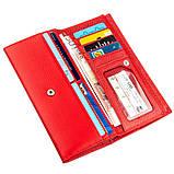 Яркий женский кошелек на кнопке ST Leather 18954 Красный, фото 3