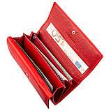 Яркий женский кошелек на кнопке ST Leather 18954 Красный, фото 5