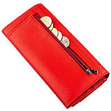 Яркий женский кошелек на кнопке ST Leather 18954 Красный, фото 6