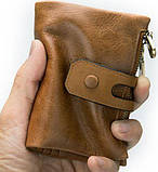 Гаманець чоловічий Vintage 14917 Рудий, фото 8