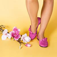 Женские замшевые туфли-балетки . Цвет любой под заказ