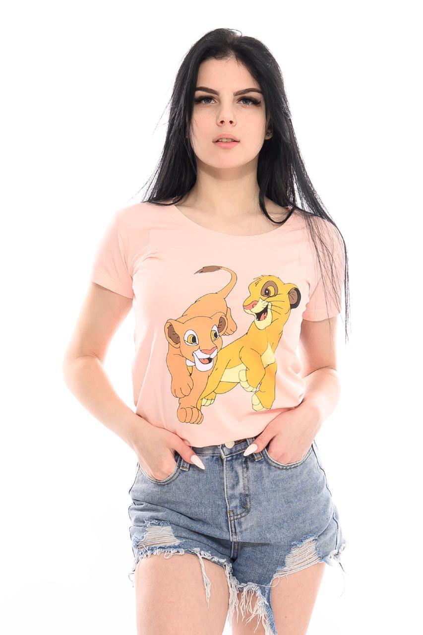 Коттоновая футболка женская Турция 42-44 (в расцветках)