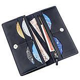 Вертикальный бумажник унисекс на магните GRANDE PELLE 11211 Синий, фото 4