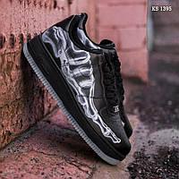 Мужские кроссовки Nike Air Force 1 Low Skeleton, черные / кросівки Найк аир форс (ТОП реплика ААА+)