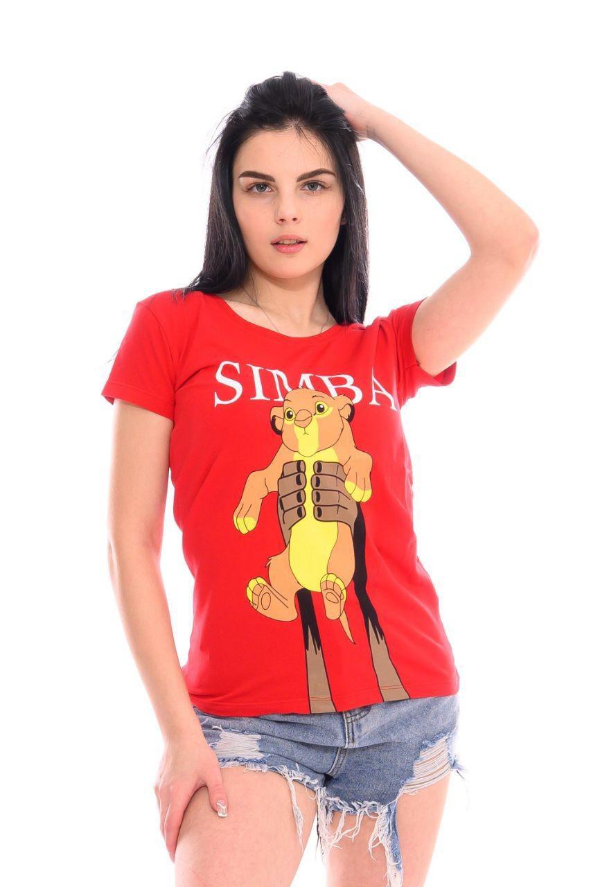Яркая футболка с молодежным рисунком 42-44 (в расцветках)