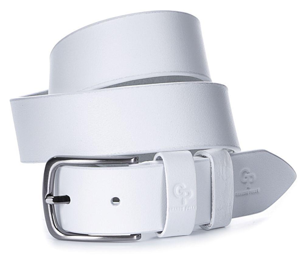Шикарный мужской кожаный ремень GRANDE PELLE 00917 Белый