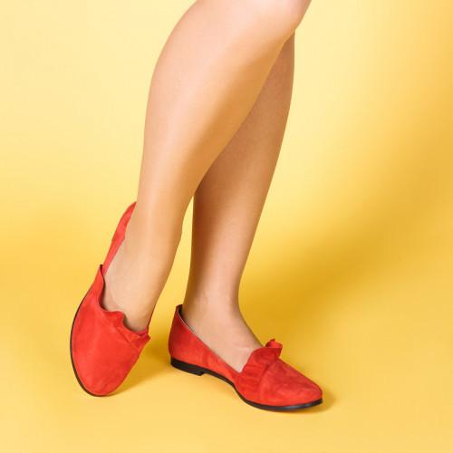 Женские красные замшевые легкие туфли. Цвет любой под заказ