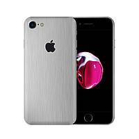 Виниловая наклейка для iPhone 8 алюминий шлифованный металл. Чехол для задней поверхности телефона